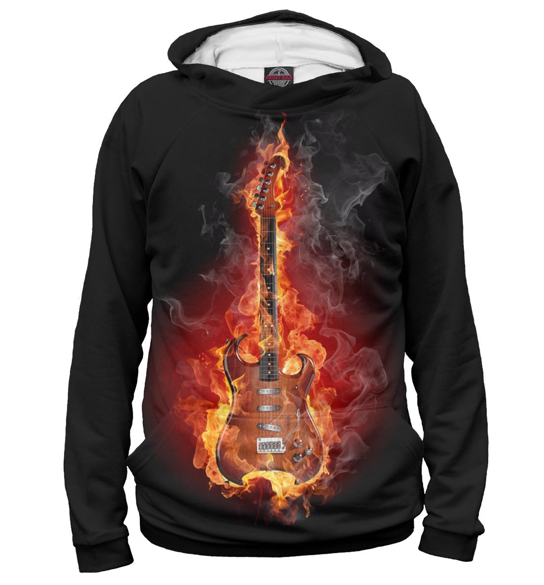Купить Горящая гитара, Printbar, Худи, APD-981508-hud-1
