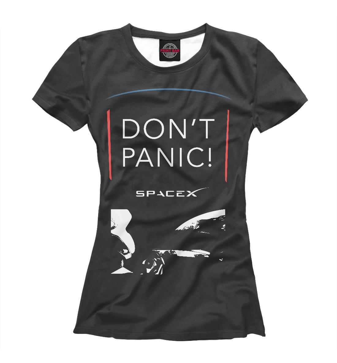 Купить Tesla Starman Don't Panic, Printbar, Футболки, TSA-240375-fut-1