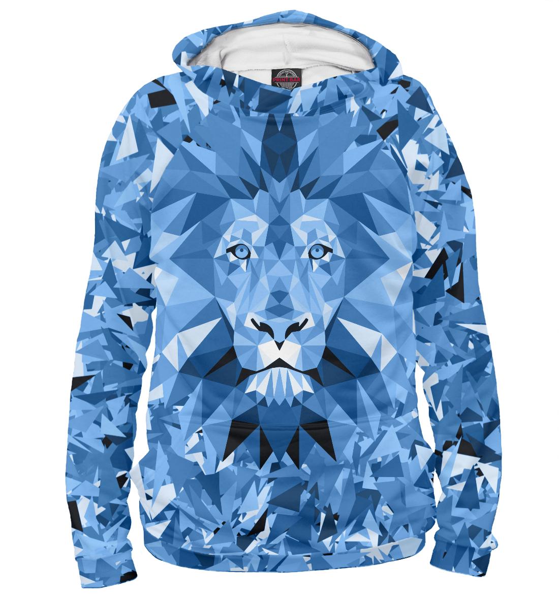 Купить Сине-бело-голубой лев, Printbar, Худи, ZNT-622473-hud-1