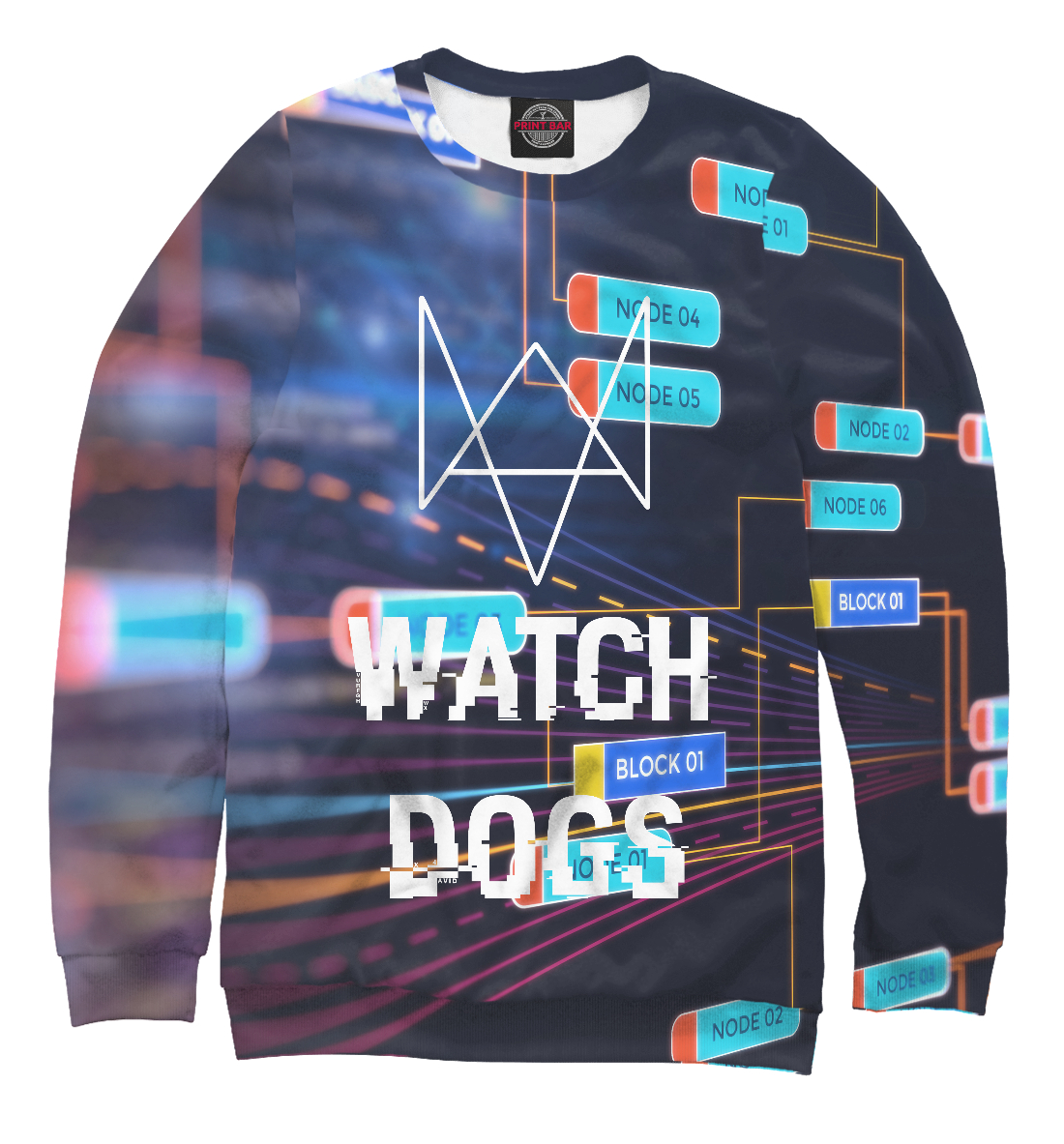 Купить WATCH DOGS ORIGINAL COLLECTION, Printbar, Свитшоты, WTD-263782-swi-1