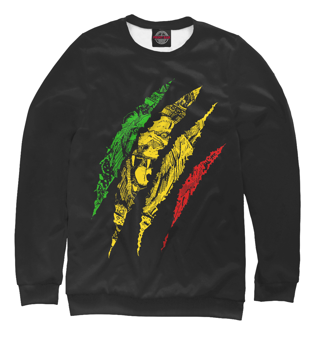 Jamaica Lion, Printbar, Свитшоты, HIS-240342-swi-2  - купить со скидкой