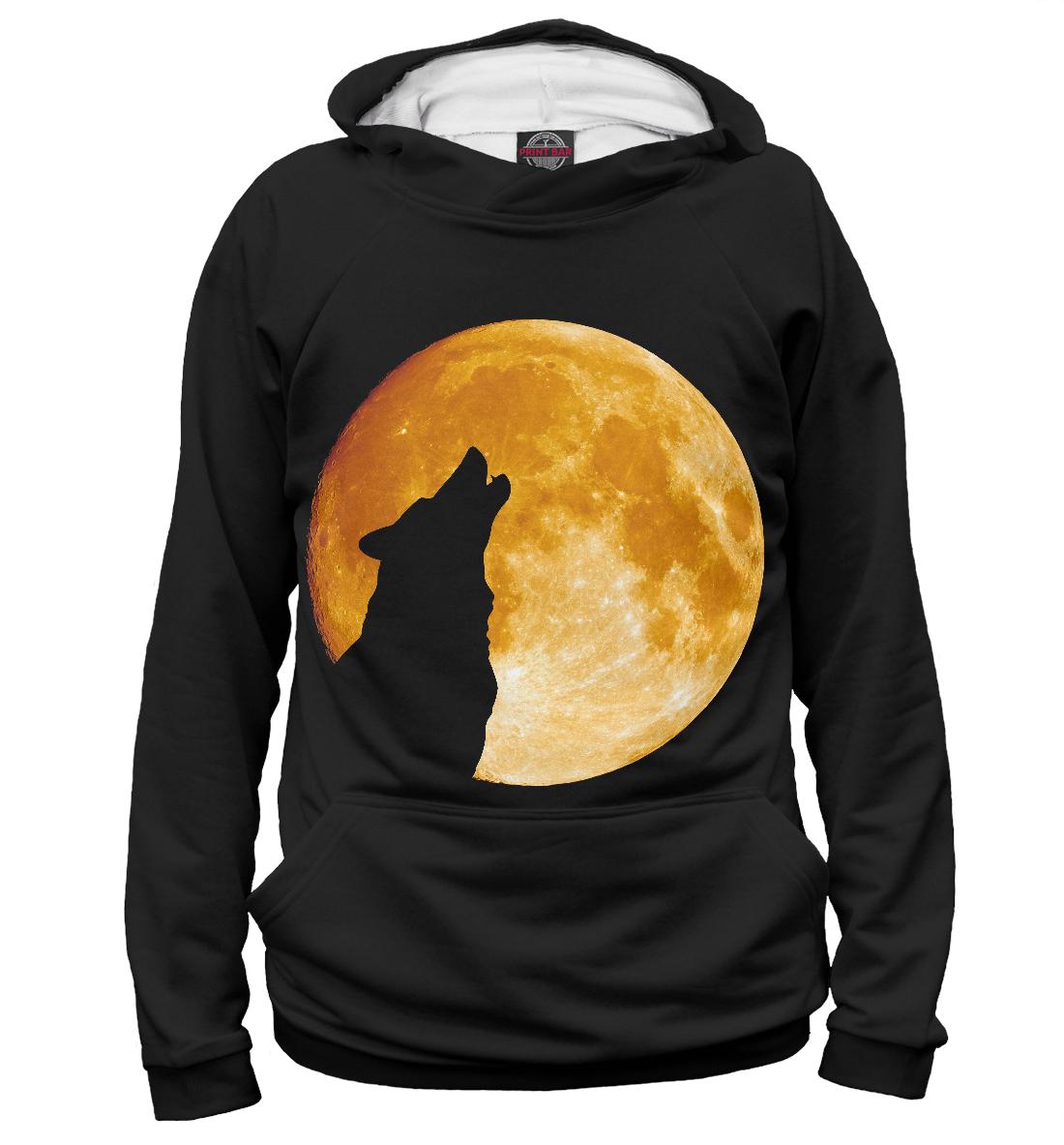 Купить Волк воет на луну, Printbar, Худи, VLF-129501-hud-1