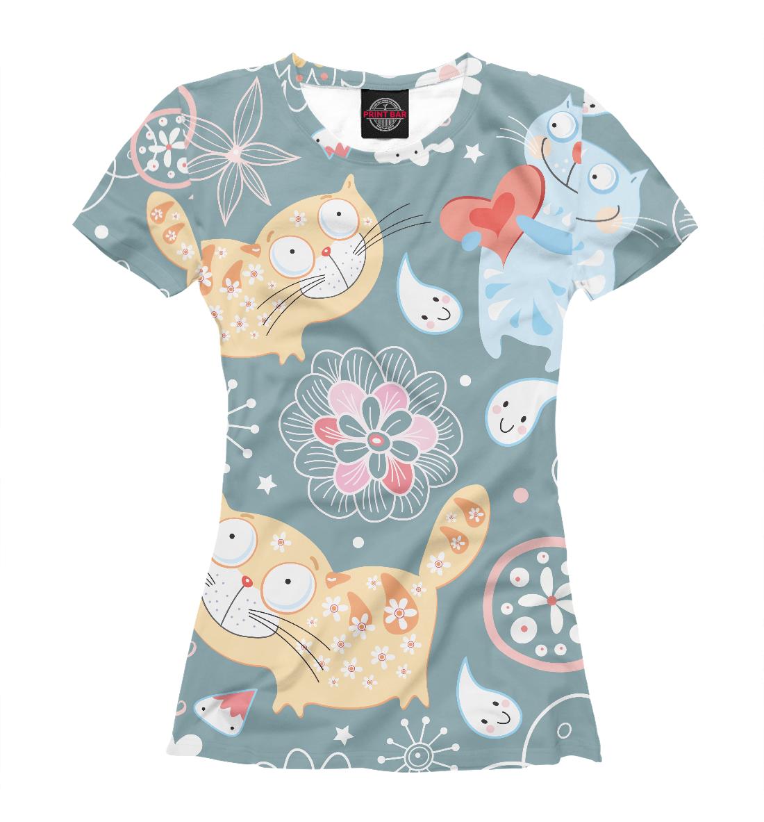 Купить Милые котики, Printbar, Футболки, CAT-342824-fut-1