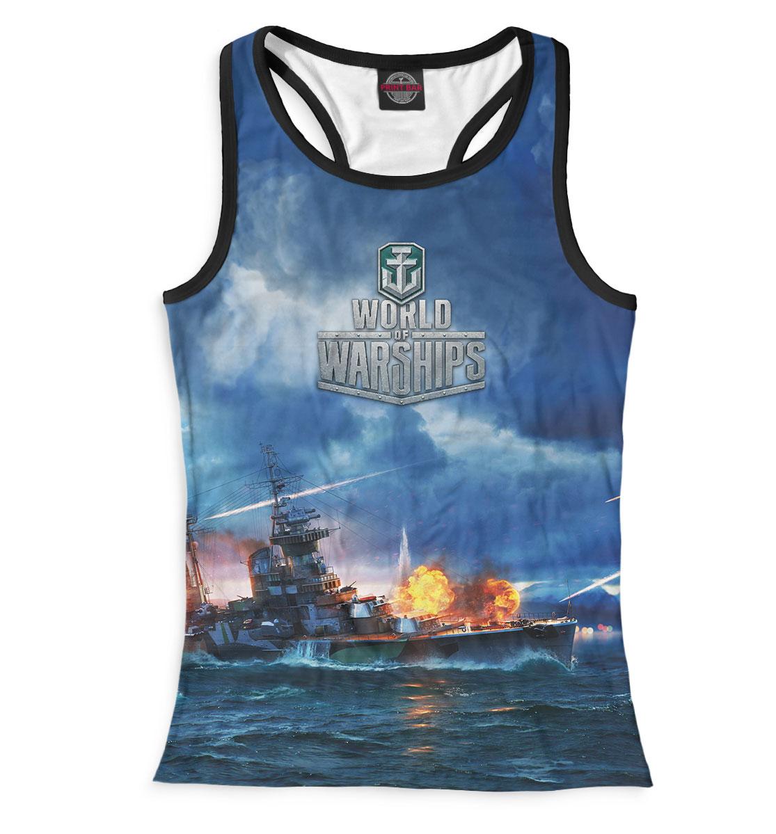 Купить World of Warships, Printbar, Майки борцовки, WOS-874533-mayb-1