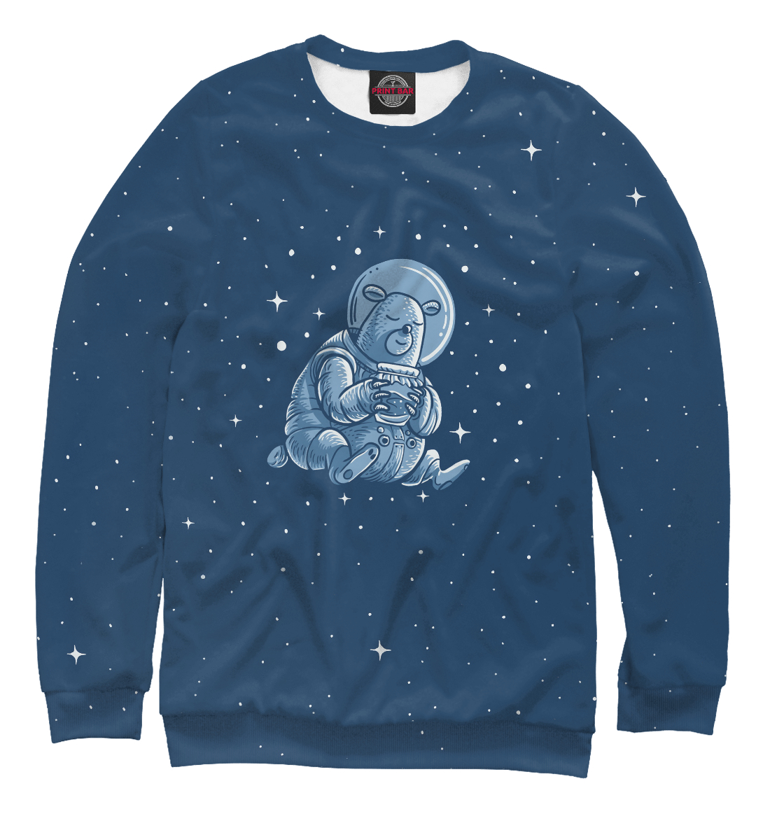 Купить Sleeping Space Bear, Printbar, Свитшоты, HIP-395996-swi-2