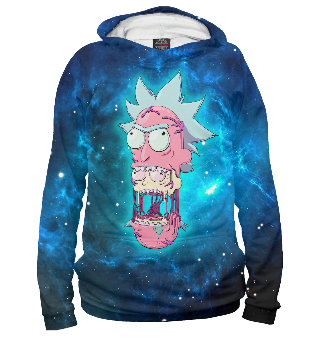 Купить Rick and Morty (space), Printbar, Худи, RNM-674627-hud-2