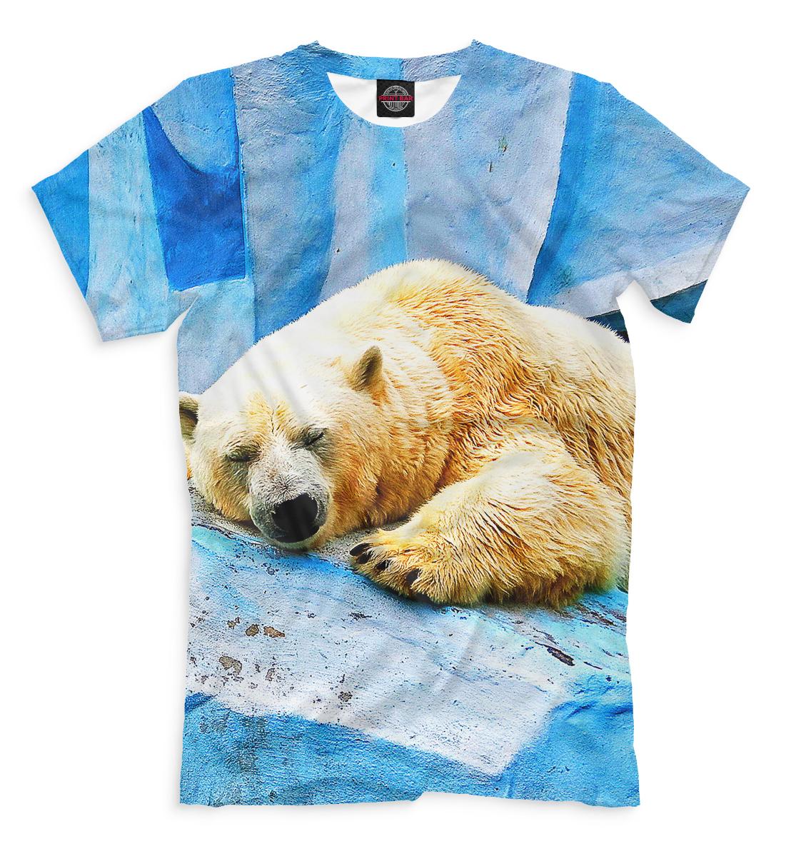Купить Спящий белый медведь, Printbar, Футболки, MED-797307-fut-2