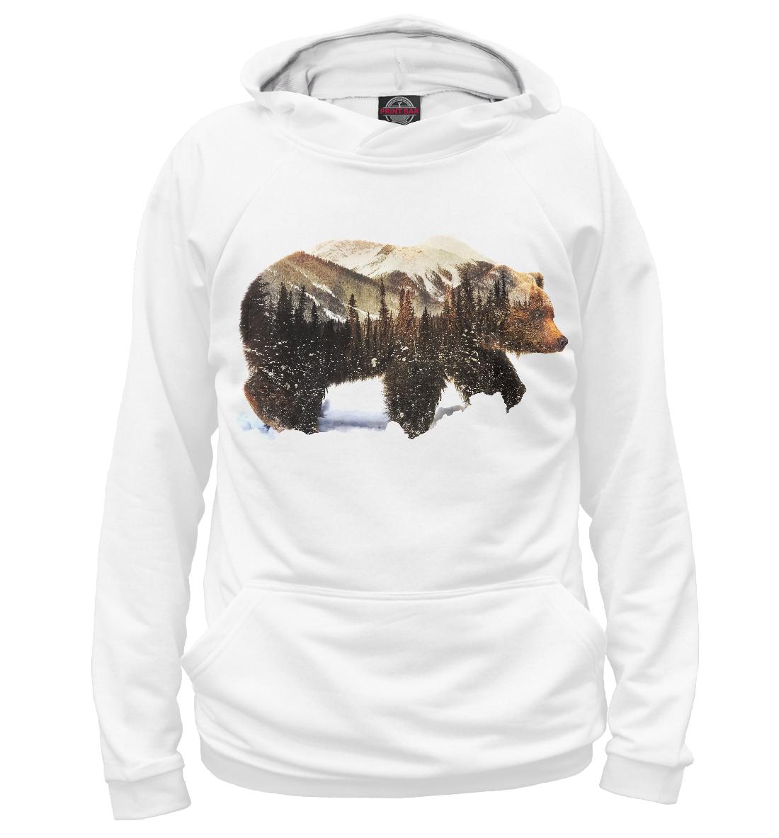 Купить Медведь, Printbar, Худи, MED-951322-hud-2