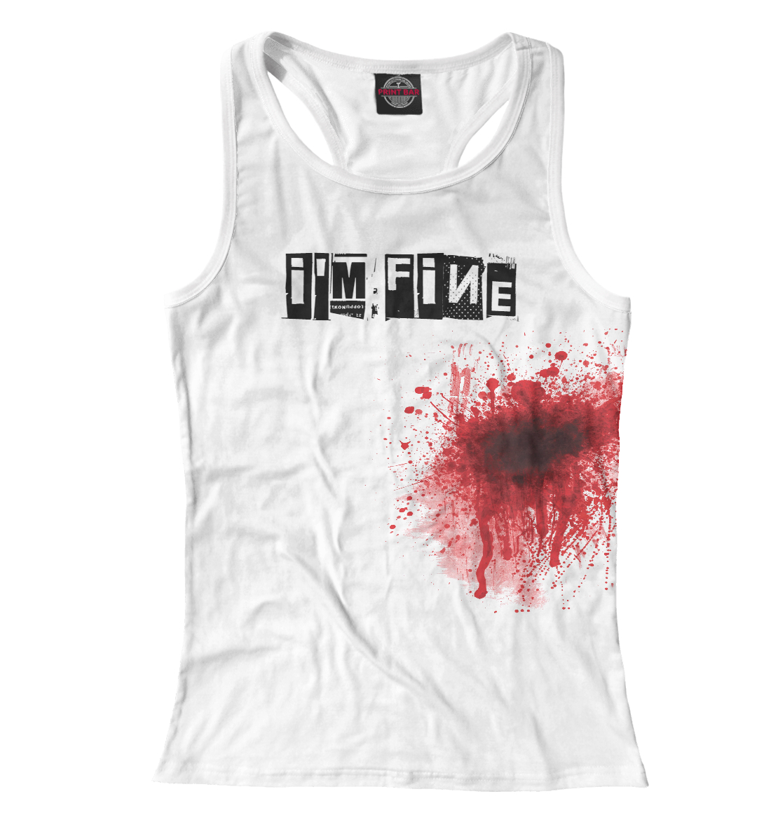 Купить Blood [i'm fine], Printbar, Майки борцовки, APD-328783-mayb-1