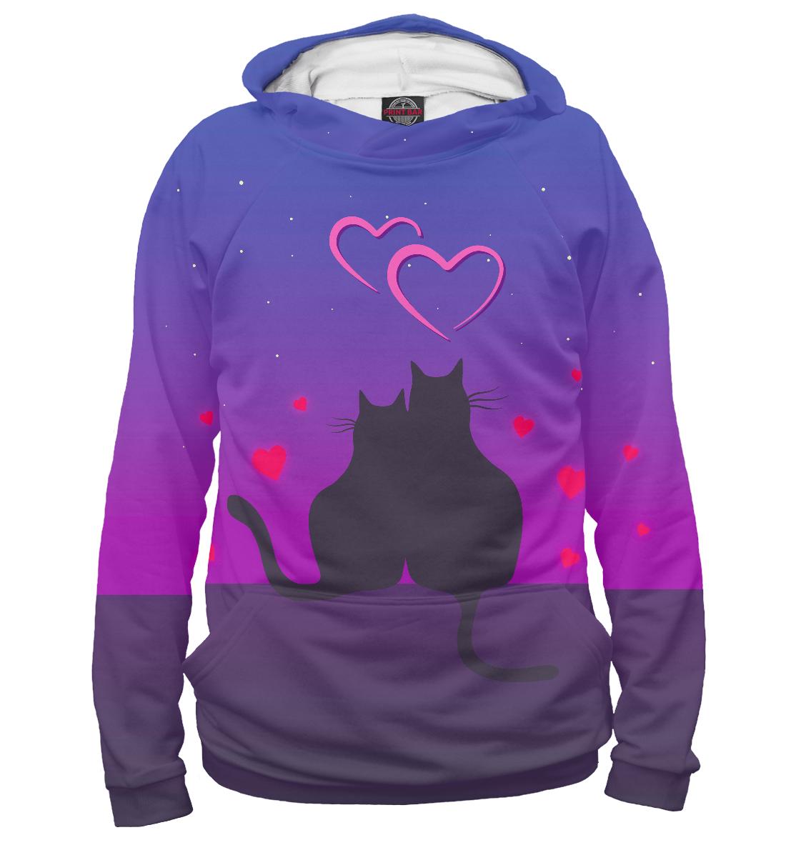 Купить Cat's desire. Парные футболки., Printbar, Худи, 14F-763648-hud-2