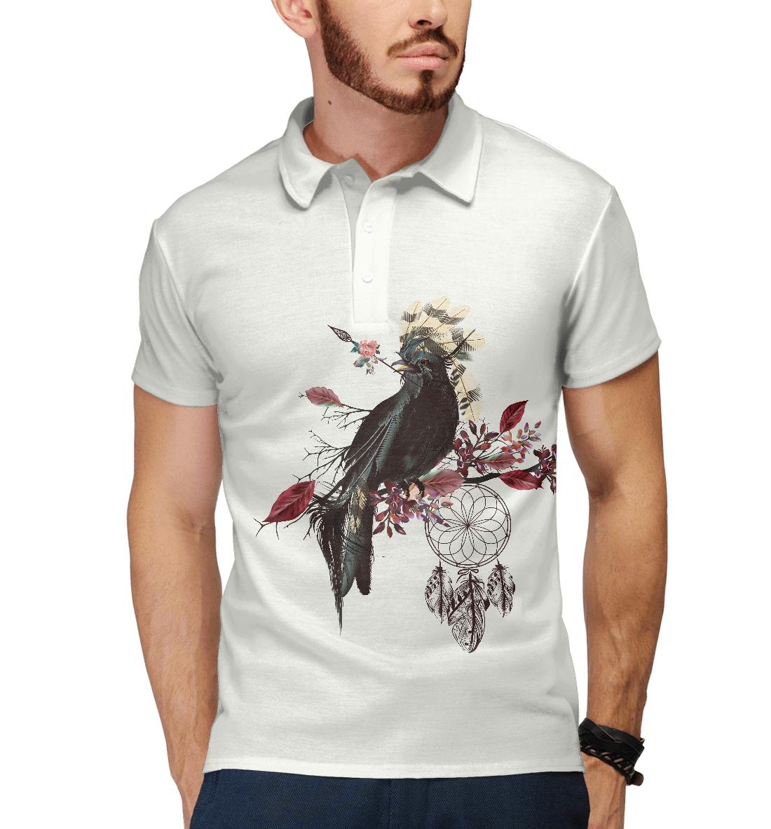 Купить Boho bird, Printbar, Поло, PTI-777182-pol-2