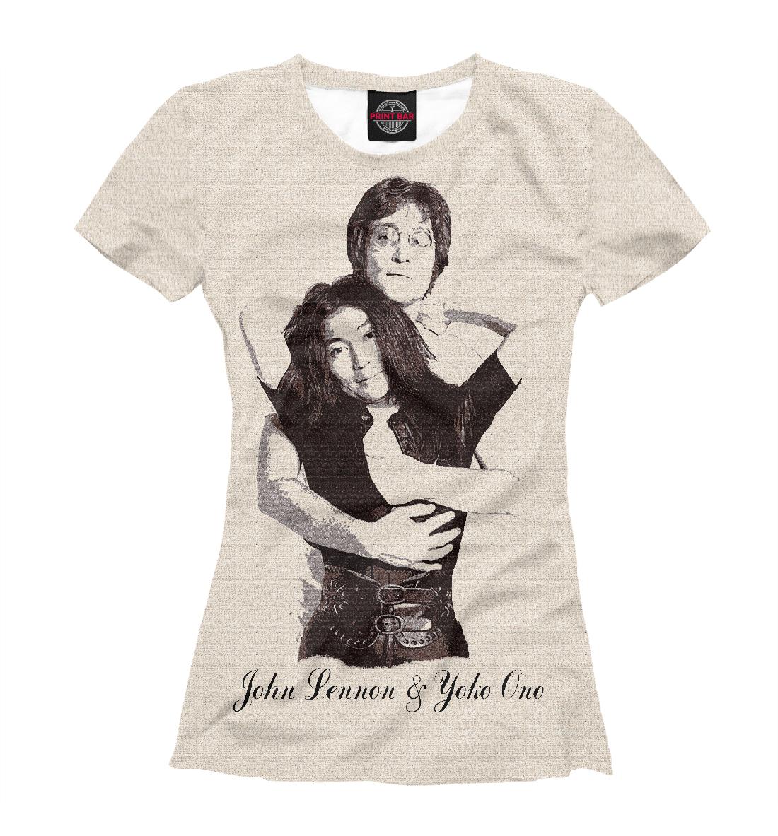 Купить John Lennon & Yoko Ono, Printbar, Футболки, ZNR-565461-fut-1