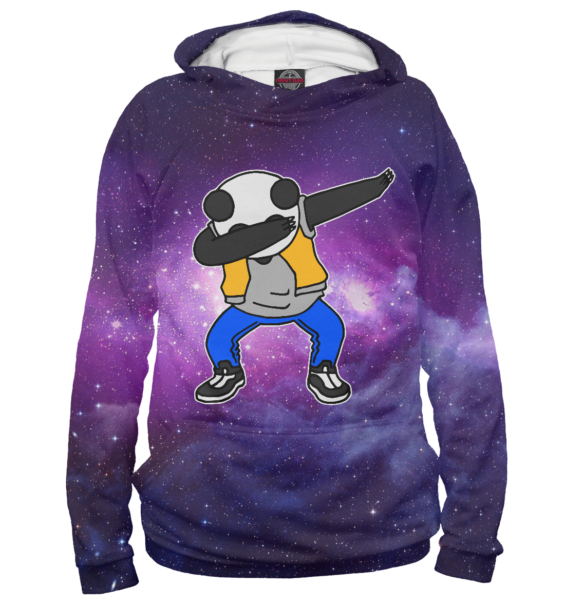 Купить Space Panda dab, Printbar, Худи, PAN-649680-hud-2