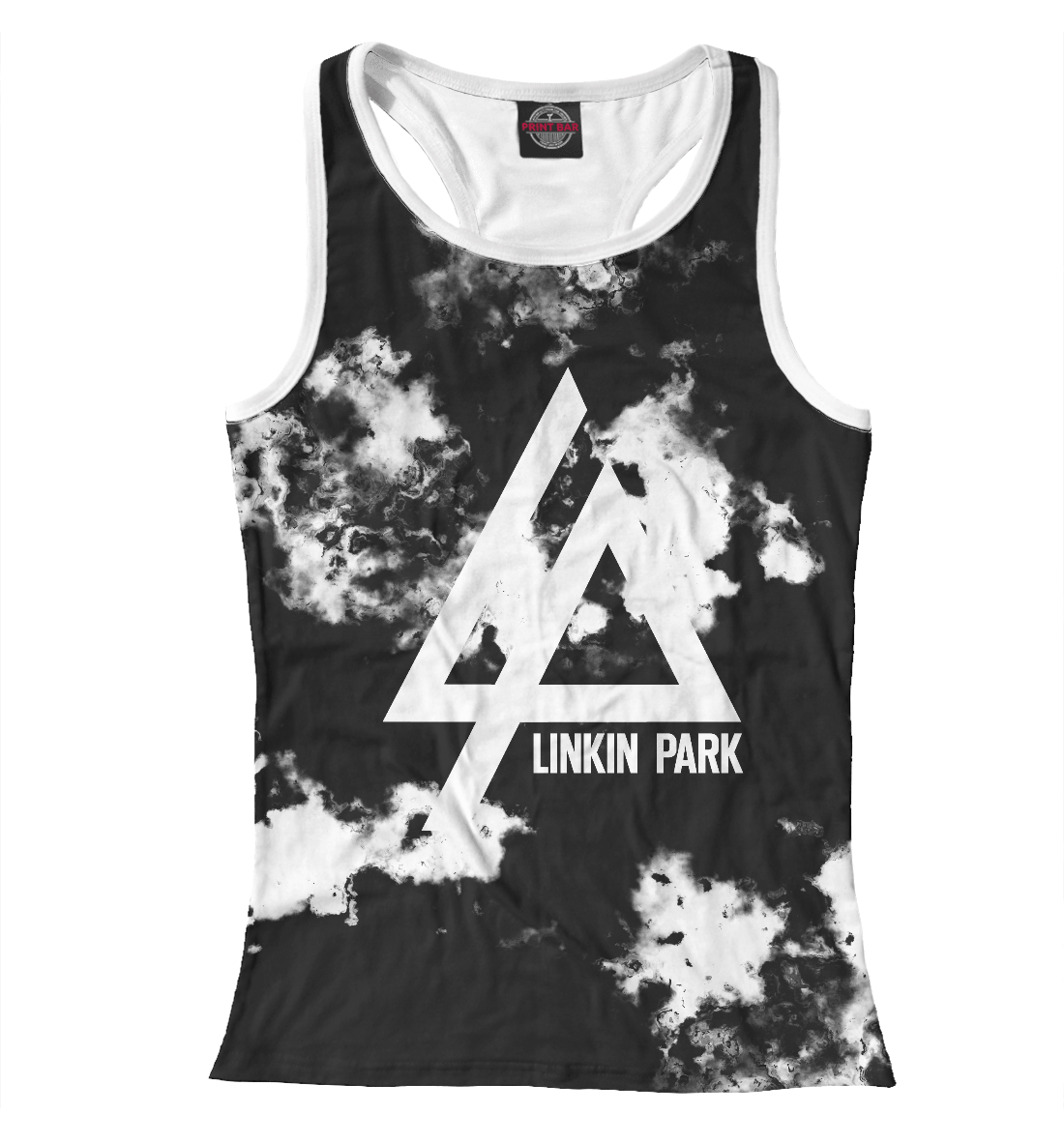 Купить Linkin Park smoke collection 2018, Printbar, Майки борцовки, LIN-477732-mayb-1