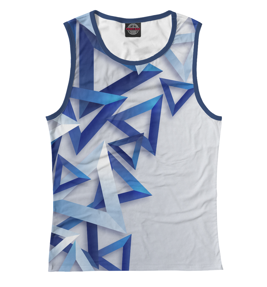 Купить Треугольники 3D, Printbar, Майки, APD-328002-may-1
