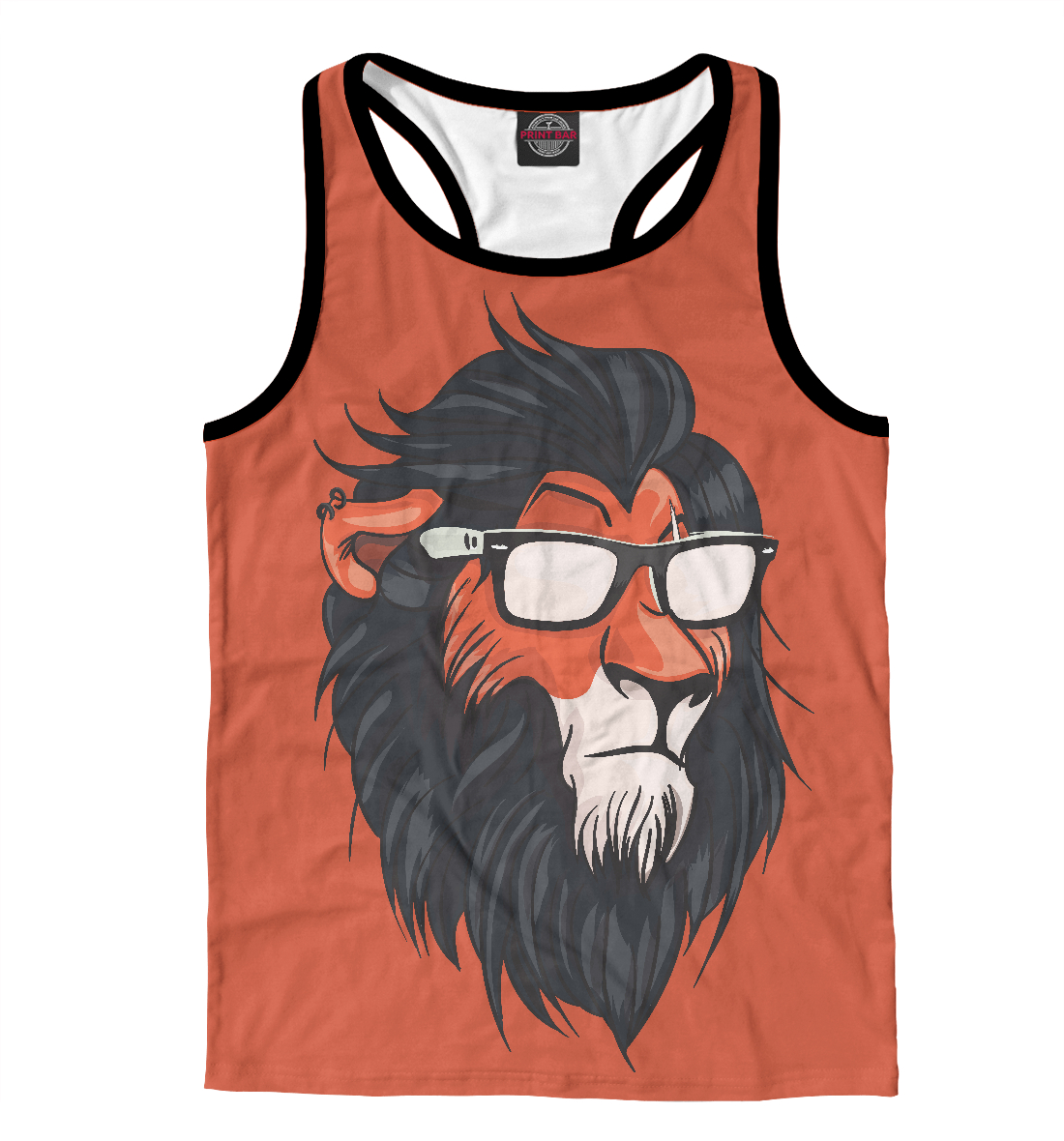 Купить Hipster Lion, Printbar, Майки борцовки, HIP-456149-mayb-2