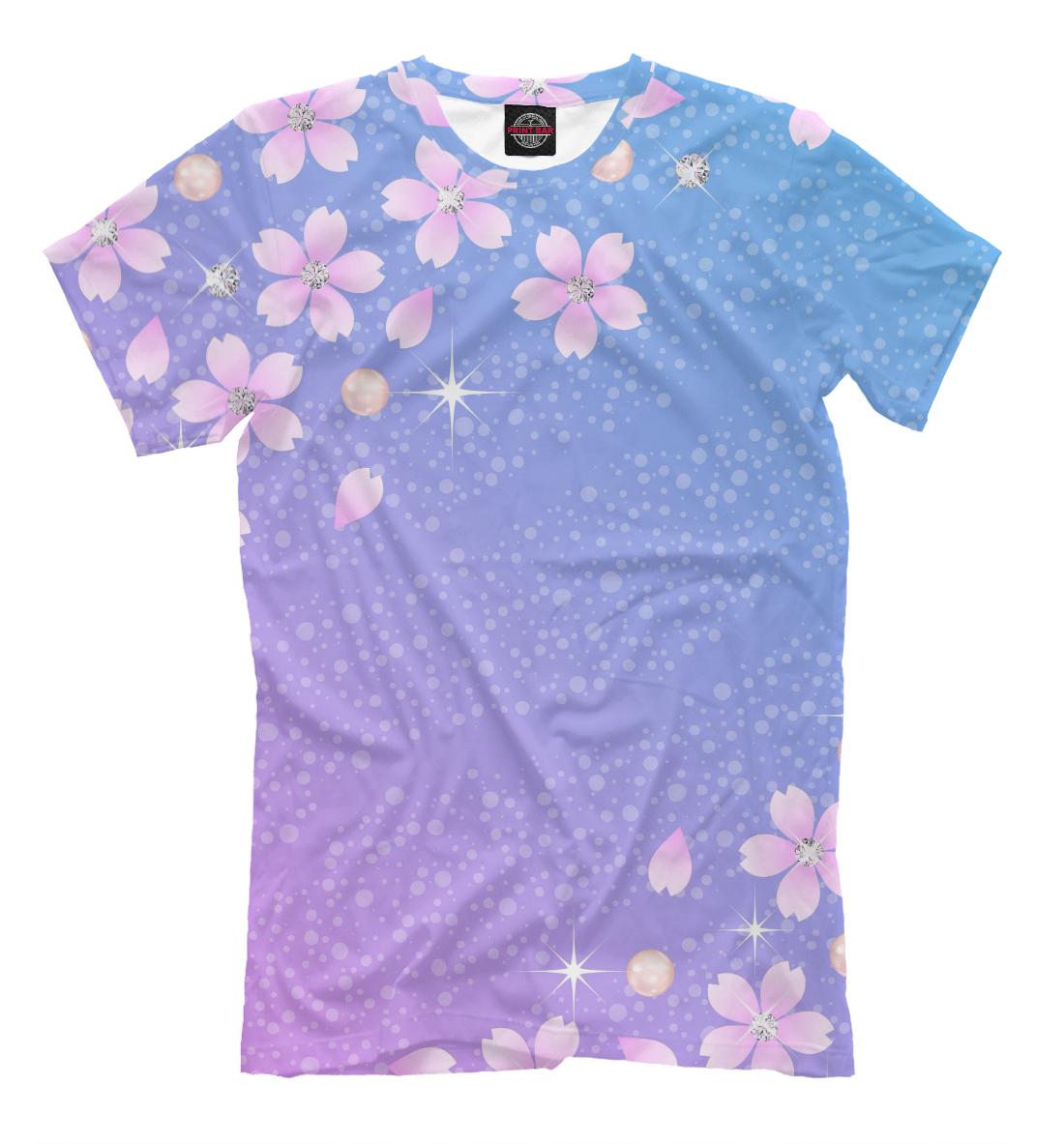 Купить Цветы и звёзды, Printbar, Футболки, CVE-454056-fut-2