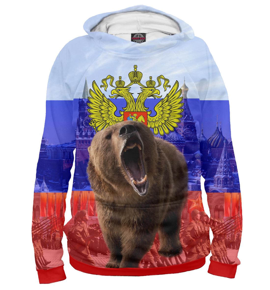 Купить Русский медведь, Printbar, Худи, SRF-659834-hud-2