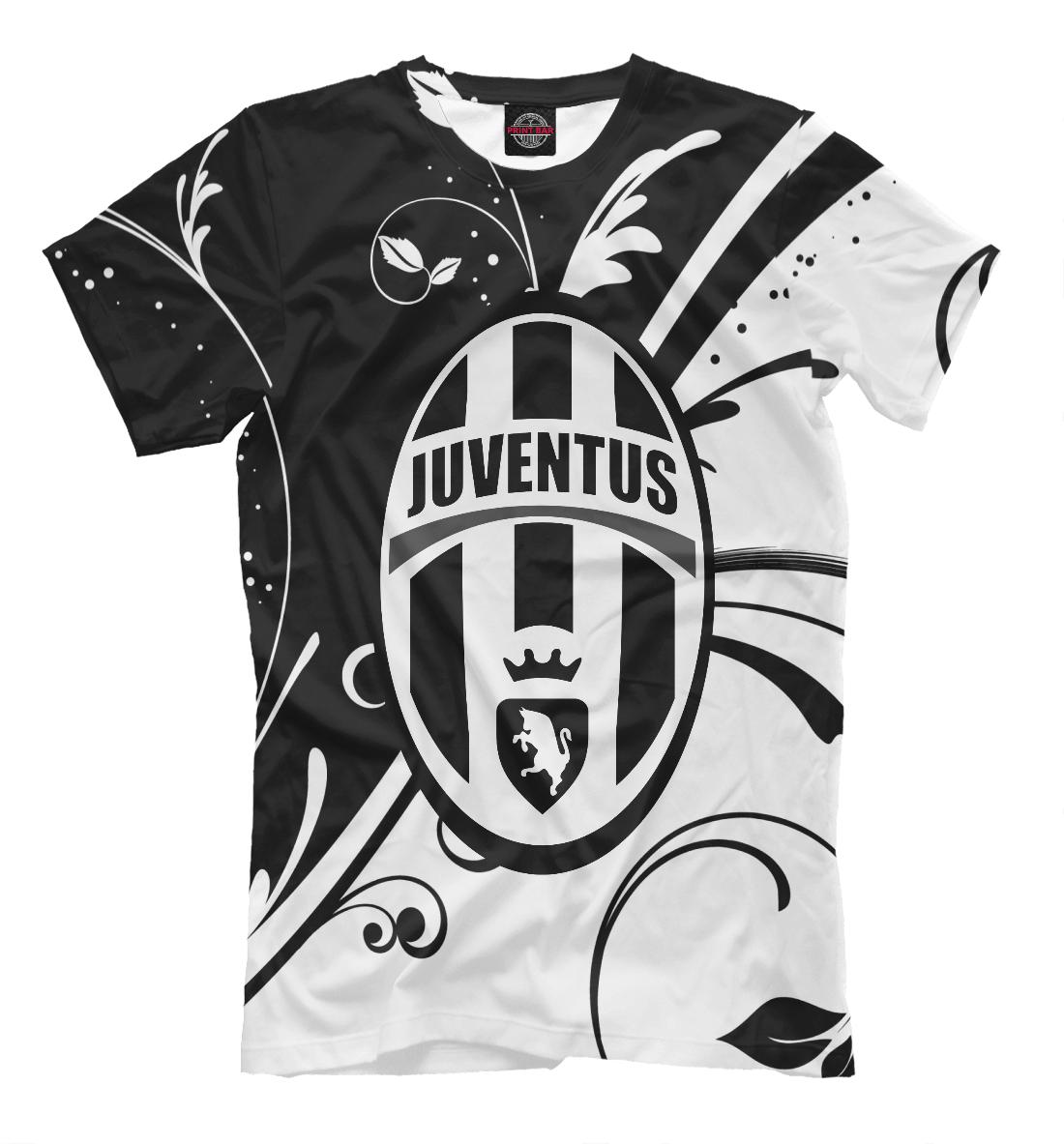 Купить FC Juventus Black&White Pattern, Printbar, Футболки, JUV-549166-fut-2