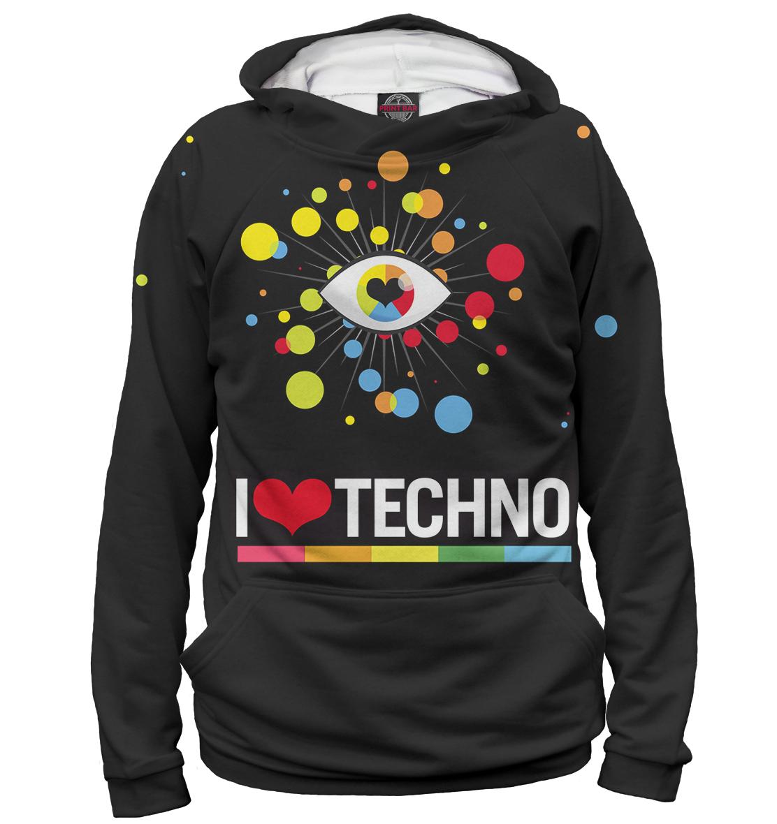 Купить I Love Techno, Printbar, Худи, TEC-845339-hud-1