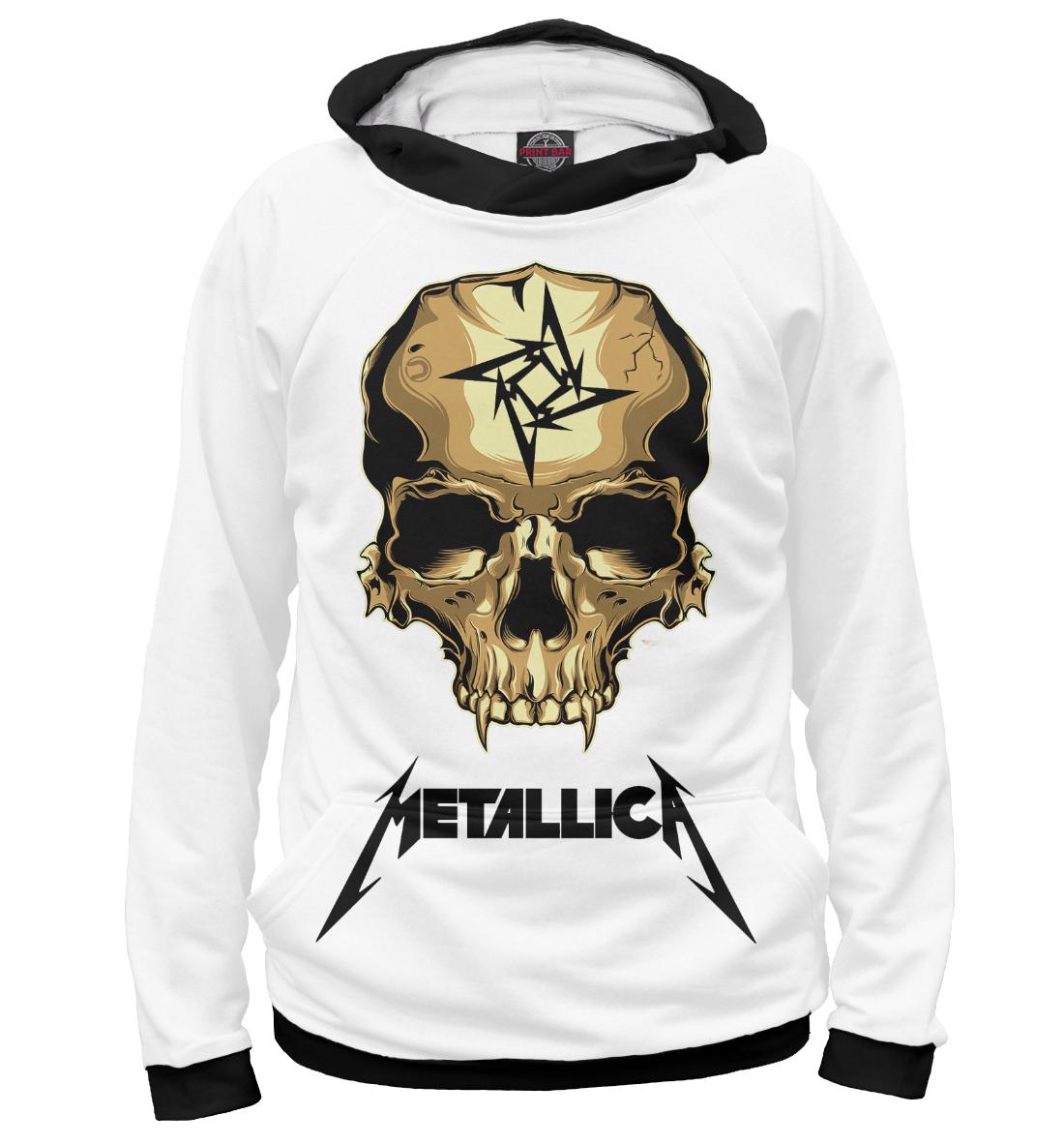Metallica Skull, Printbar, Худи, MET-291305-hud-2  - купить со скидкой