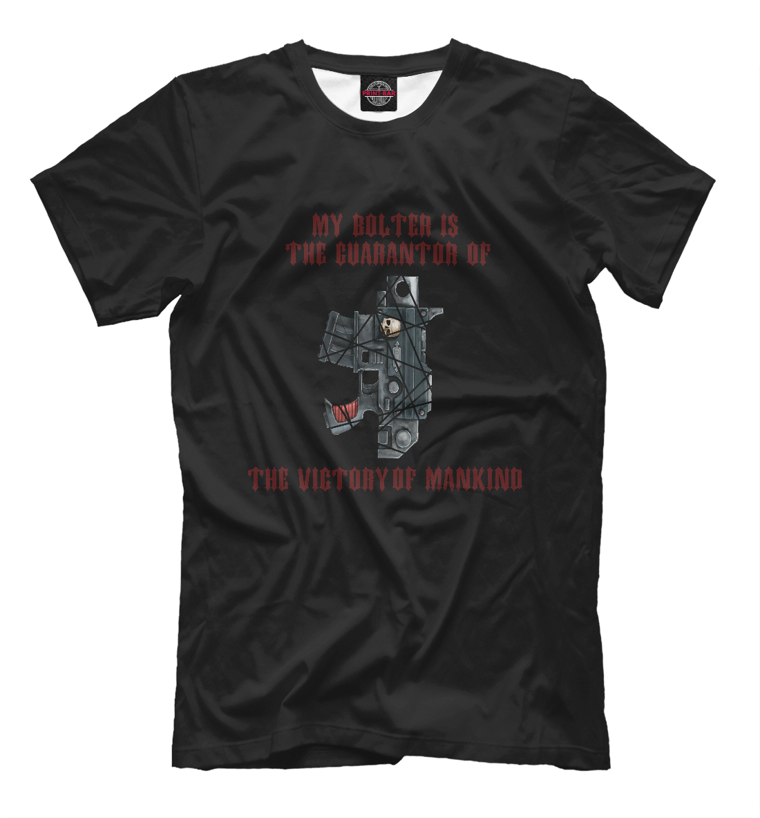 Купить My bolter is the guarantor of the victory of mankind, Printbar, Футболки, WHR-604990-fut-2