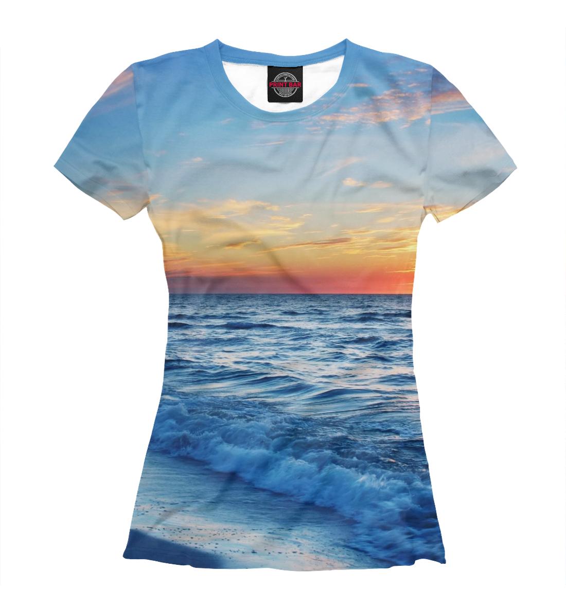 Купить Сказочный закат на море, Printbar, Футболки, MST-225780-fut-1
