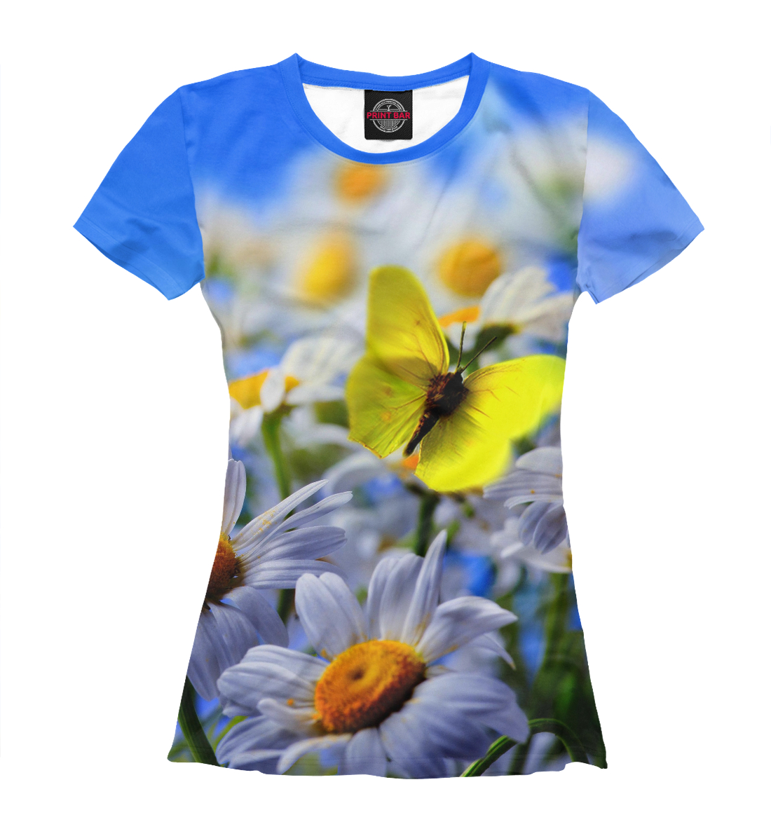 Купить Бабочки и нарциссы, Printbar, Футболки, NAS-164932-fut-1