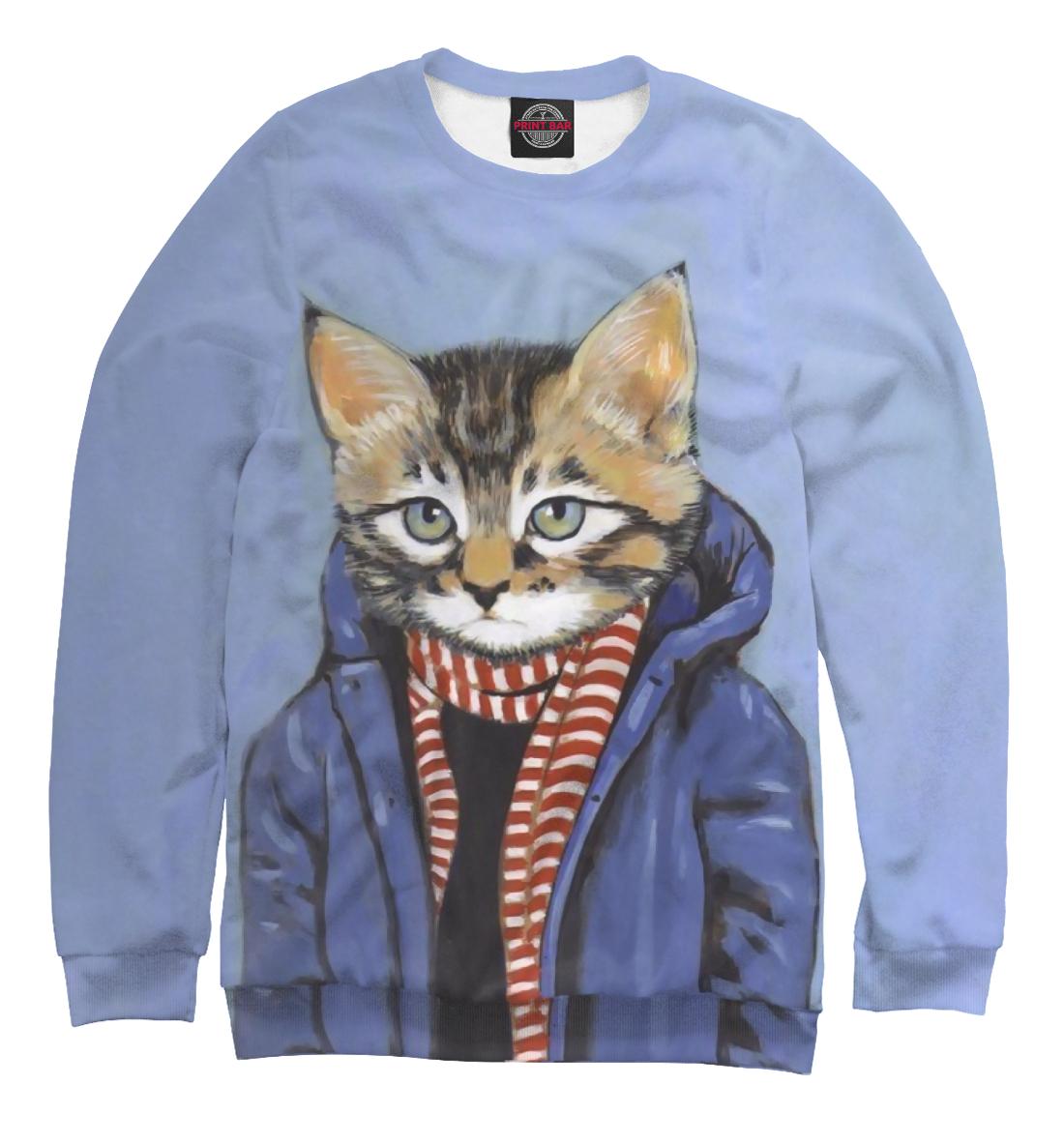 Купить Кот в пальто, Printbar, Свитшоты, HIP-745242-swi-2