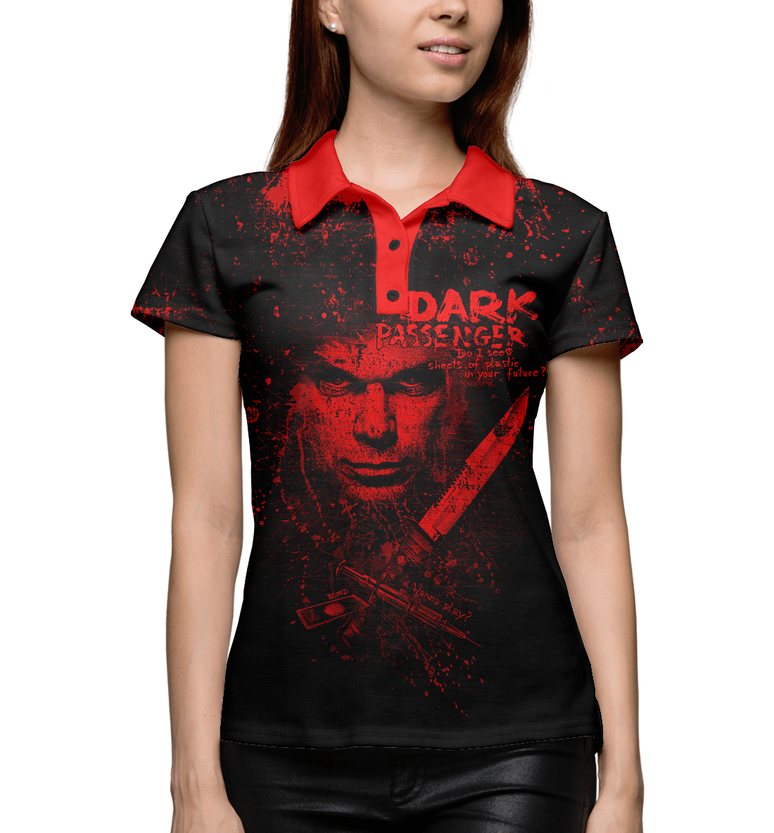 Купить Dark Passenger, Printbar, Поло, DCS-152950-pol-1