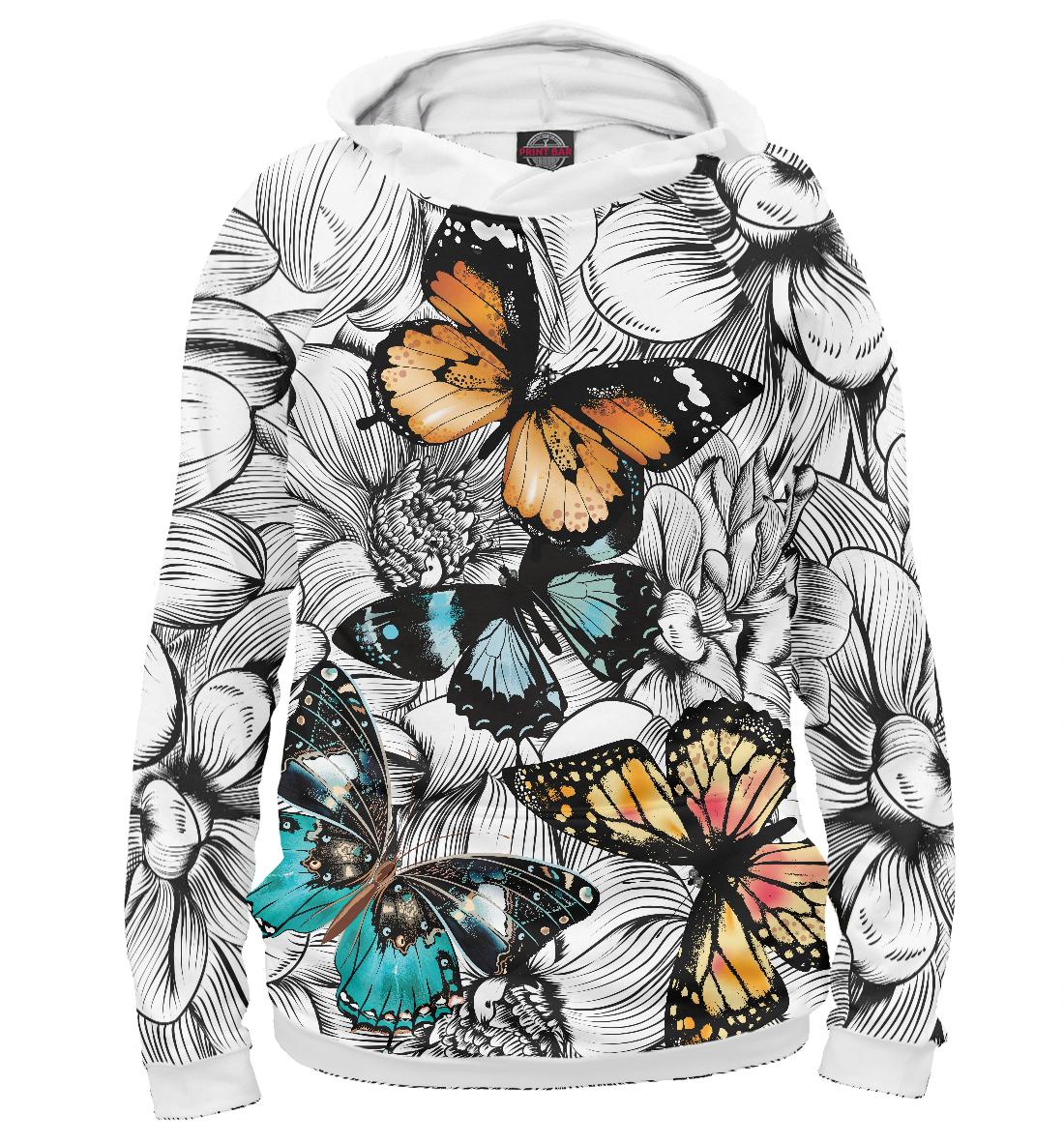 Купить Цветные бабочки, Printbar, Худи, LET-291271-hud-2