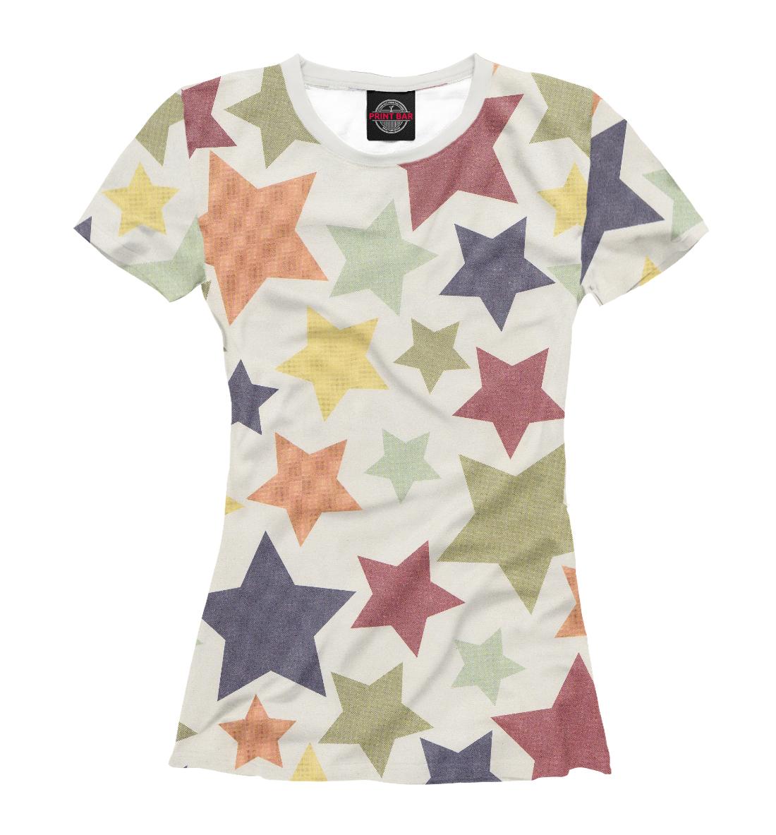 Купить Цветные звезды, Printbar, Футболки, CLR-452281-fut-1