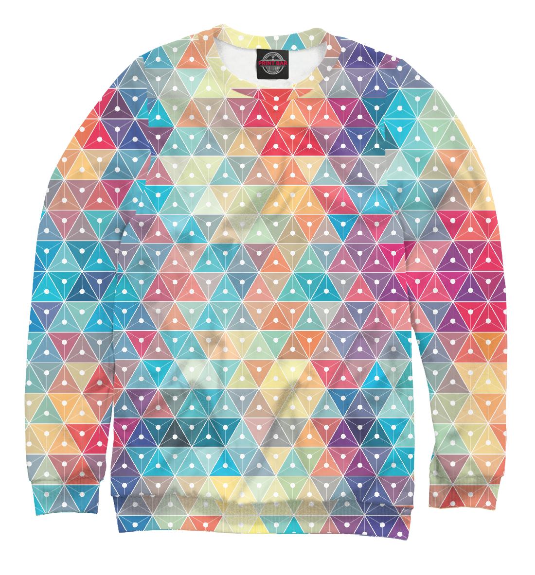 Купить Абстракция Треугольники, Printbar, Свитшоты, ABS-775591-swi-2