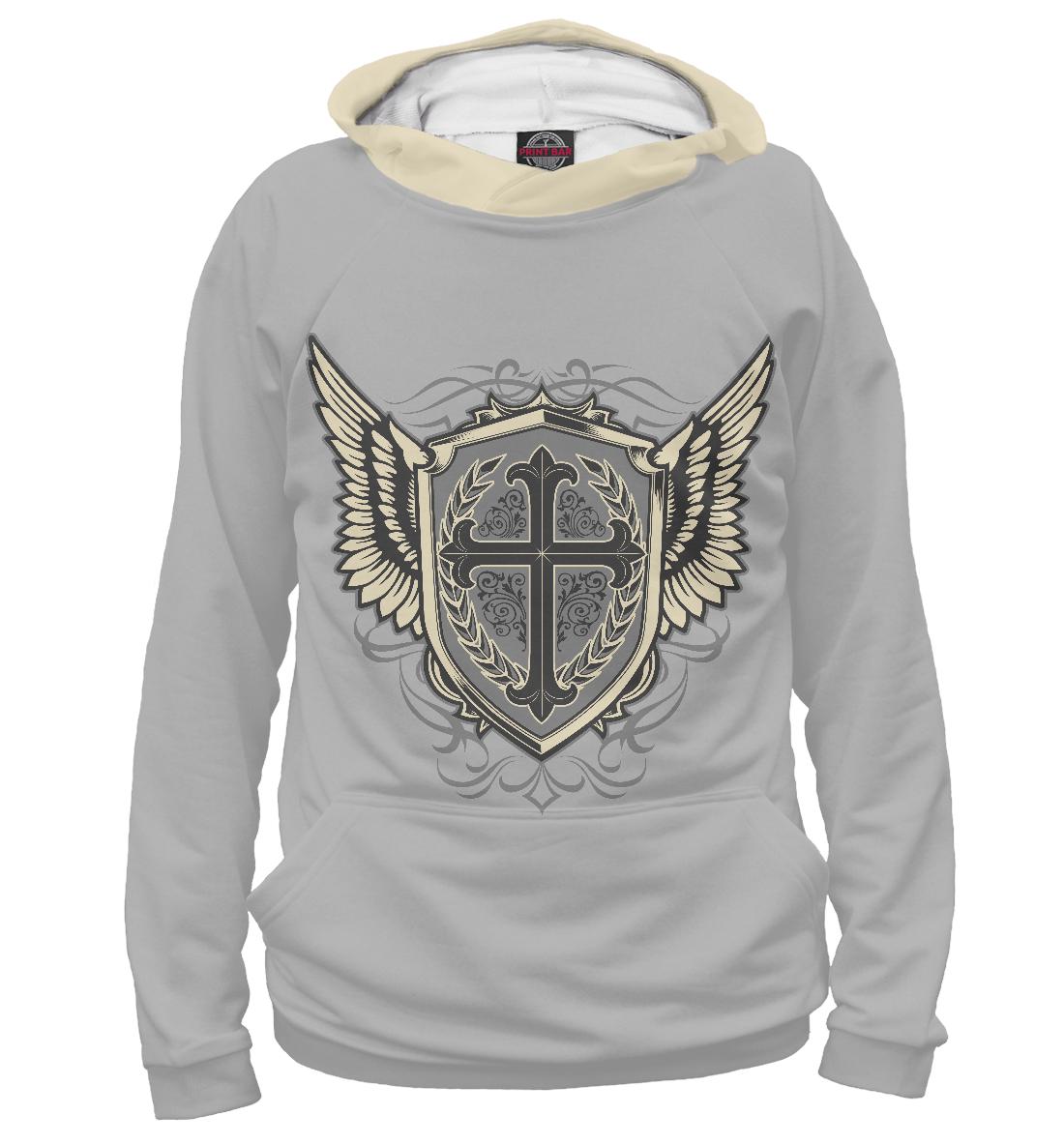 Купить Крест и крылья, Printbar, Худи, APD-296693-hud-1
