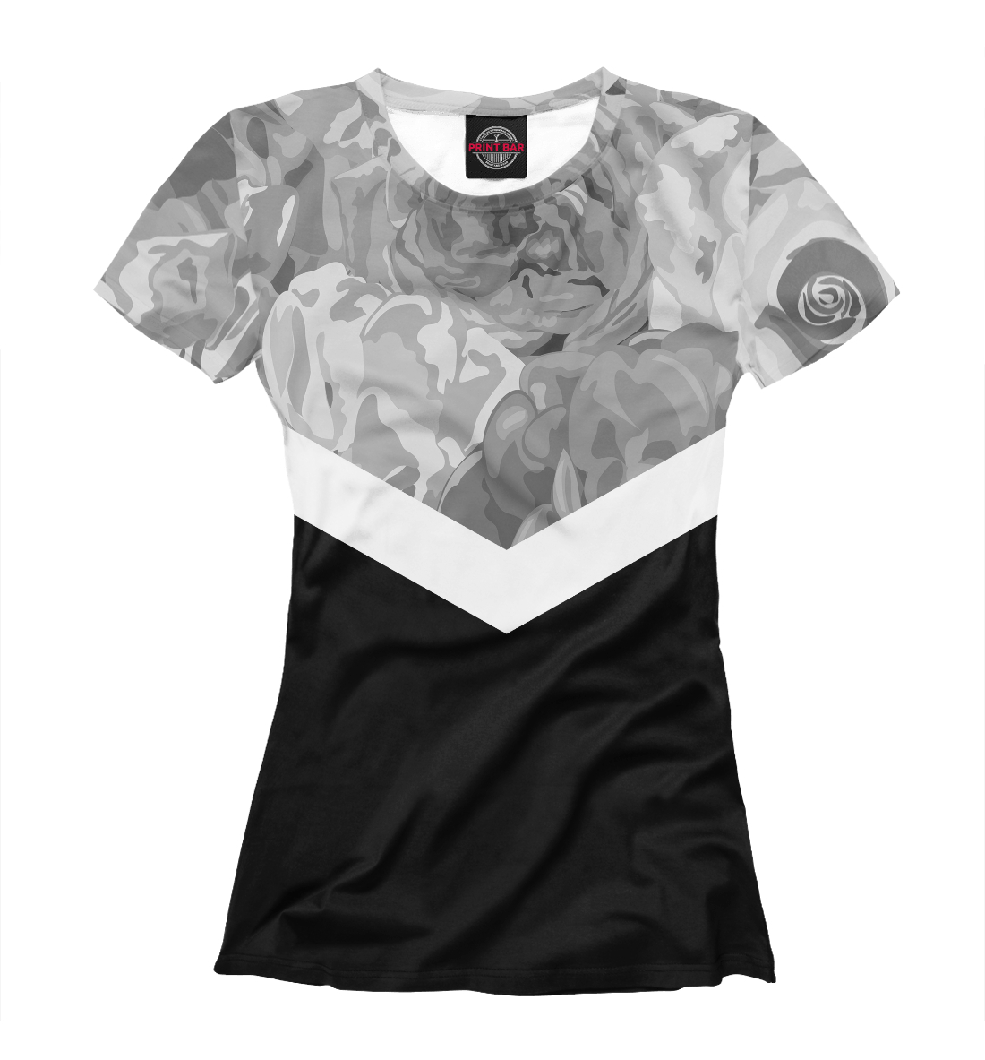Купить Roses Black&White Collection, Printbar, Футболки, APD-789004-fut-1