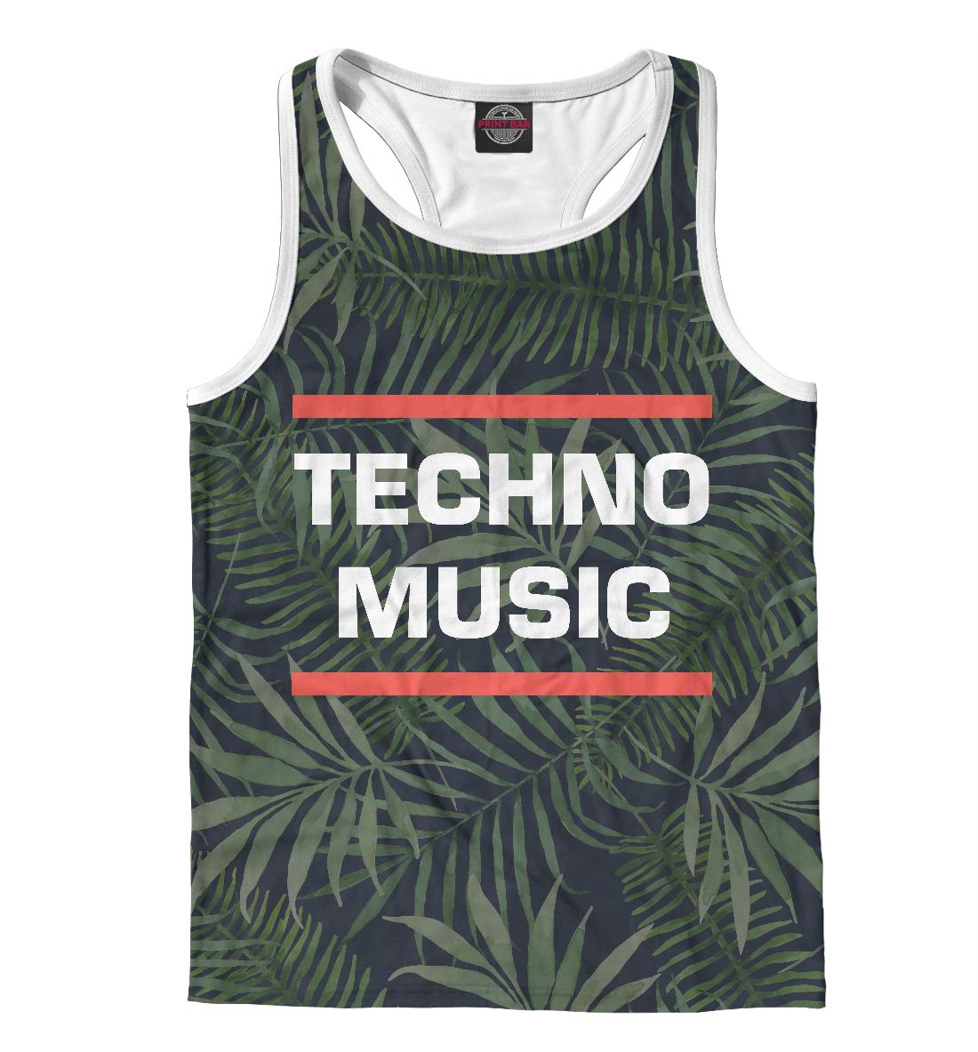 Купить Techno music, Printbar, Майки борцовки, DJS-313981-mayb-2