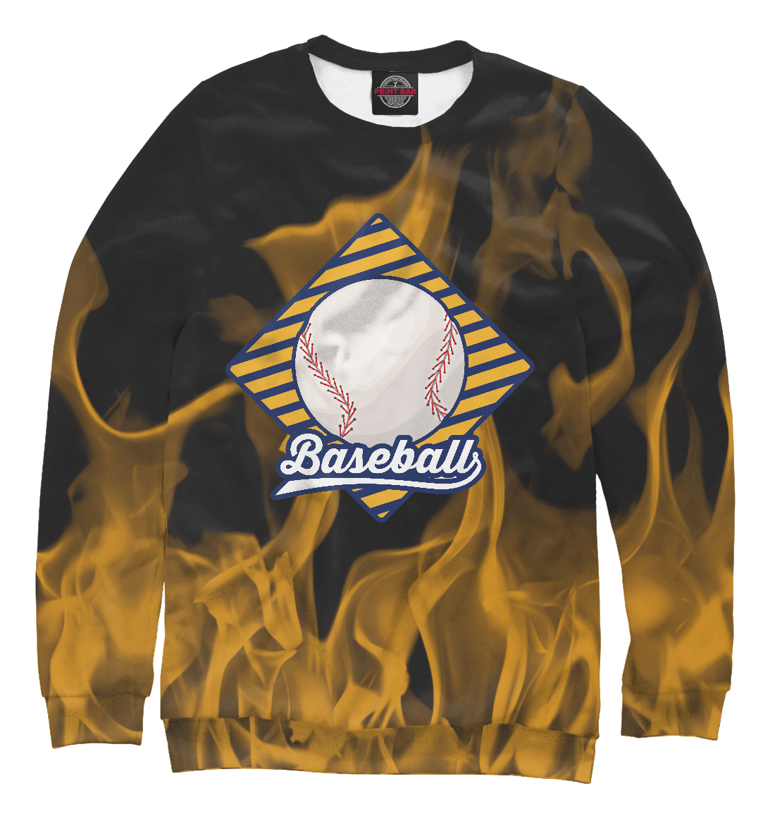 Купить Огненный бейсбол, Printbar, Свитшоты, APD-835216-swi-1