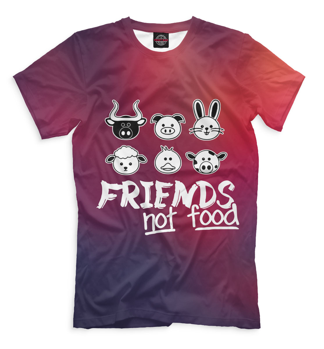 Купить Friends Not Food, Printbar, Футболки, VGN-276880-fut-2