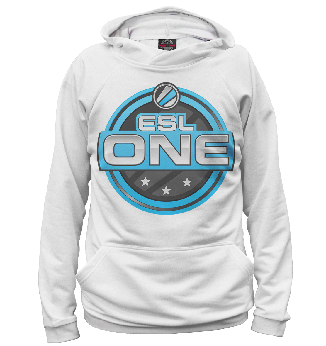 ESL One Logo White, Printbar, Худи, COU-571626-hud-2  - купить со скидкой