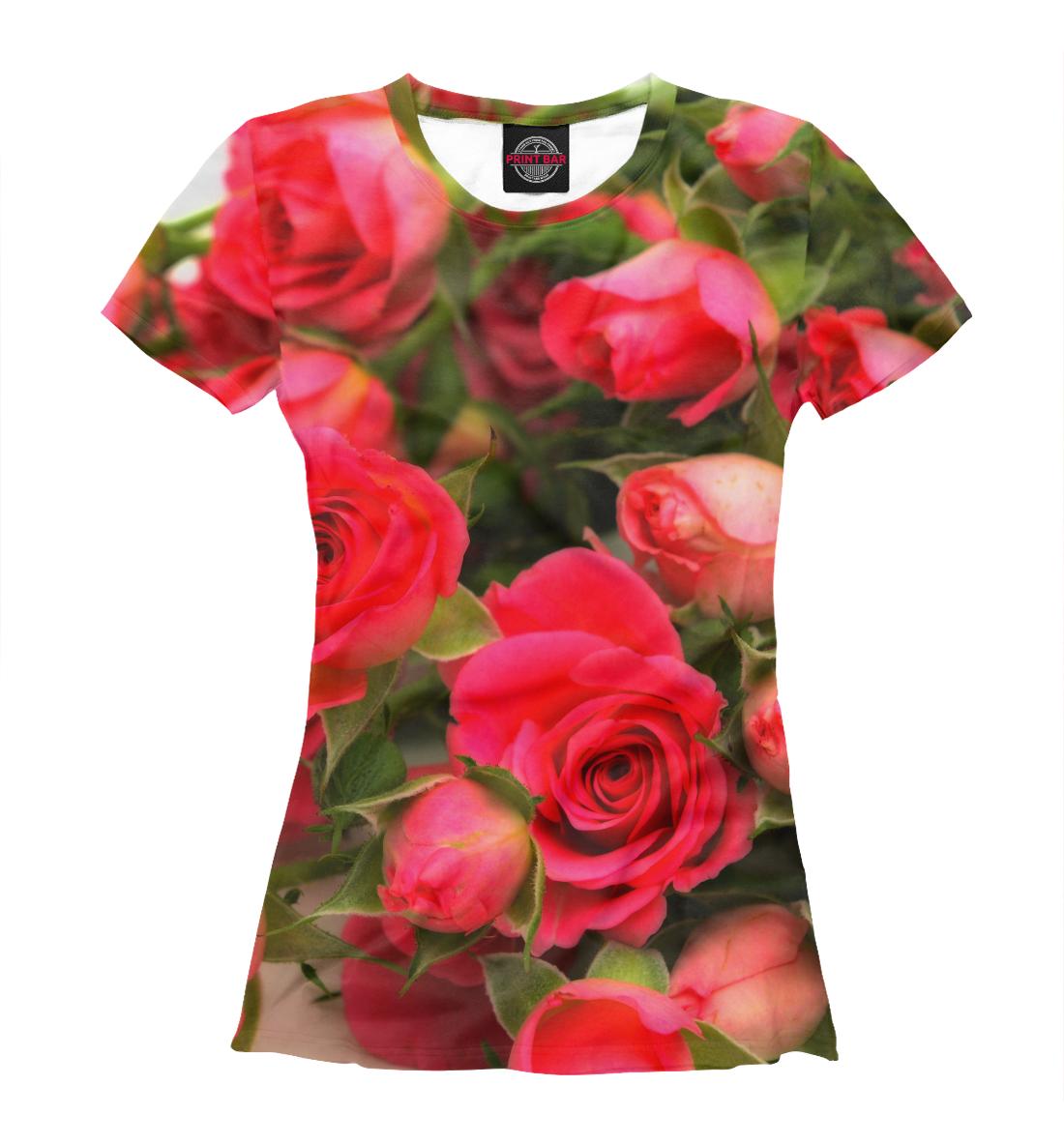 Купить Розы, Printbar, Футболки, CVE-107058-fut-1