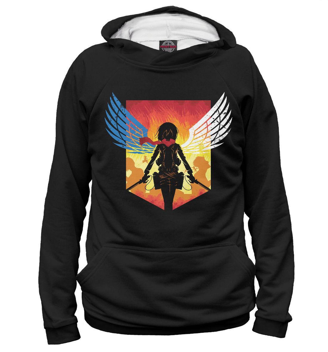 Купить Mikasa Ackerman, Printbar, Худи, AOT-445868-hud-2