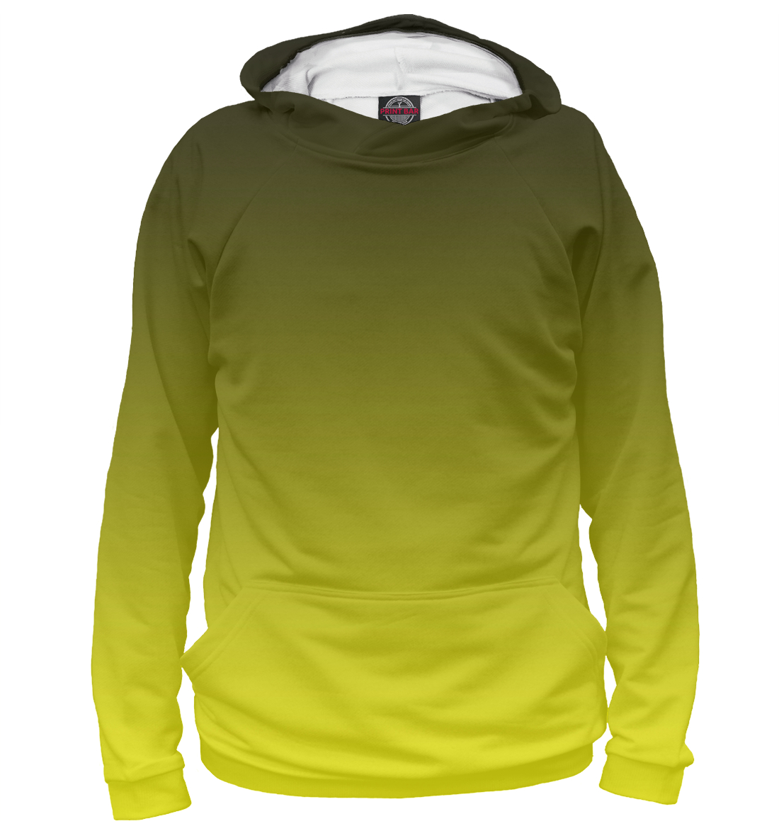 Купить Градиент Желтый в Черный, Printbar, Худи, CLR-807785-hud-1