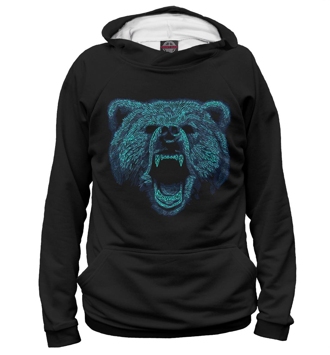 Купить Голова медвдея, Printbar, Худи, MED-871504-hud-1