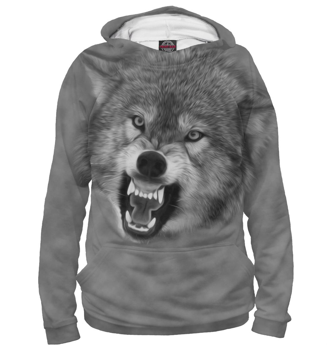 Купить Волк, Printbar, Худи, VLF-608327-hud-1