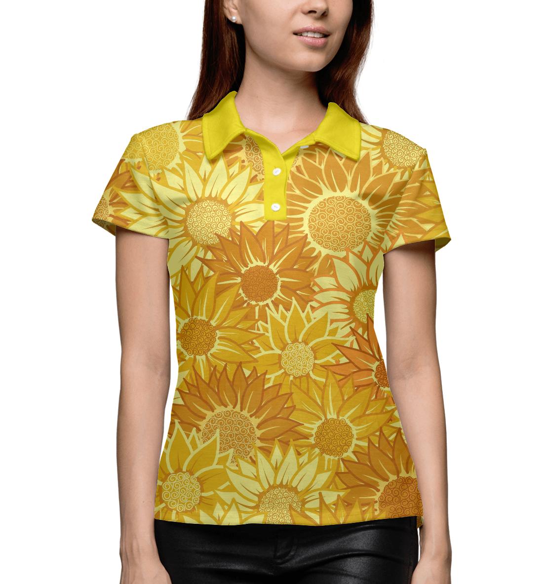 Купить Жёлтые цветы, Printbar, Поло, CVE-931660-pol-1