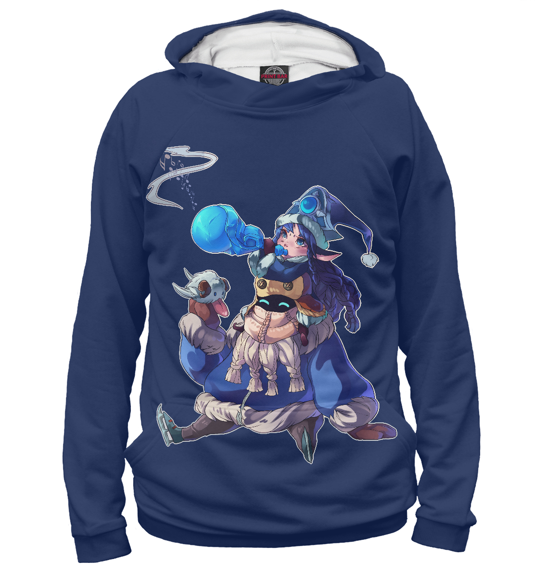 Купить Snow Day Bard & Winter Wonder Lulu, Printbar, Худи, LOL-564441-hud-1