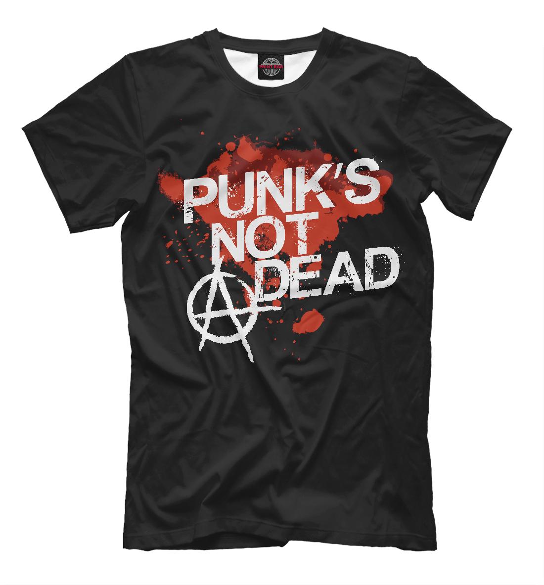 Купить Punks not dead, Printbar, Футболки, MZK-214275-fut-2