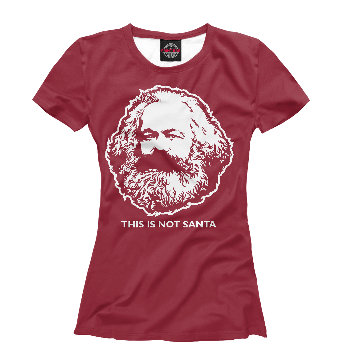 Купить Карл Маркс не Санта, Printbar, Футболки, APD-231400-fut-1