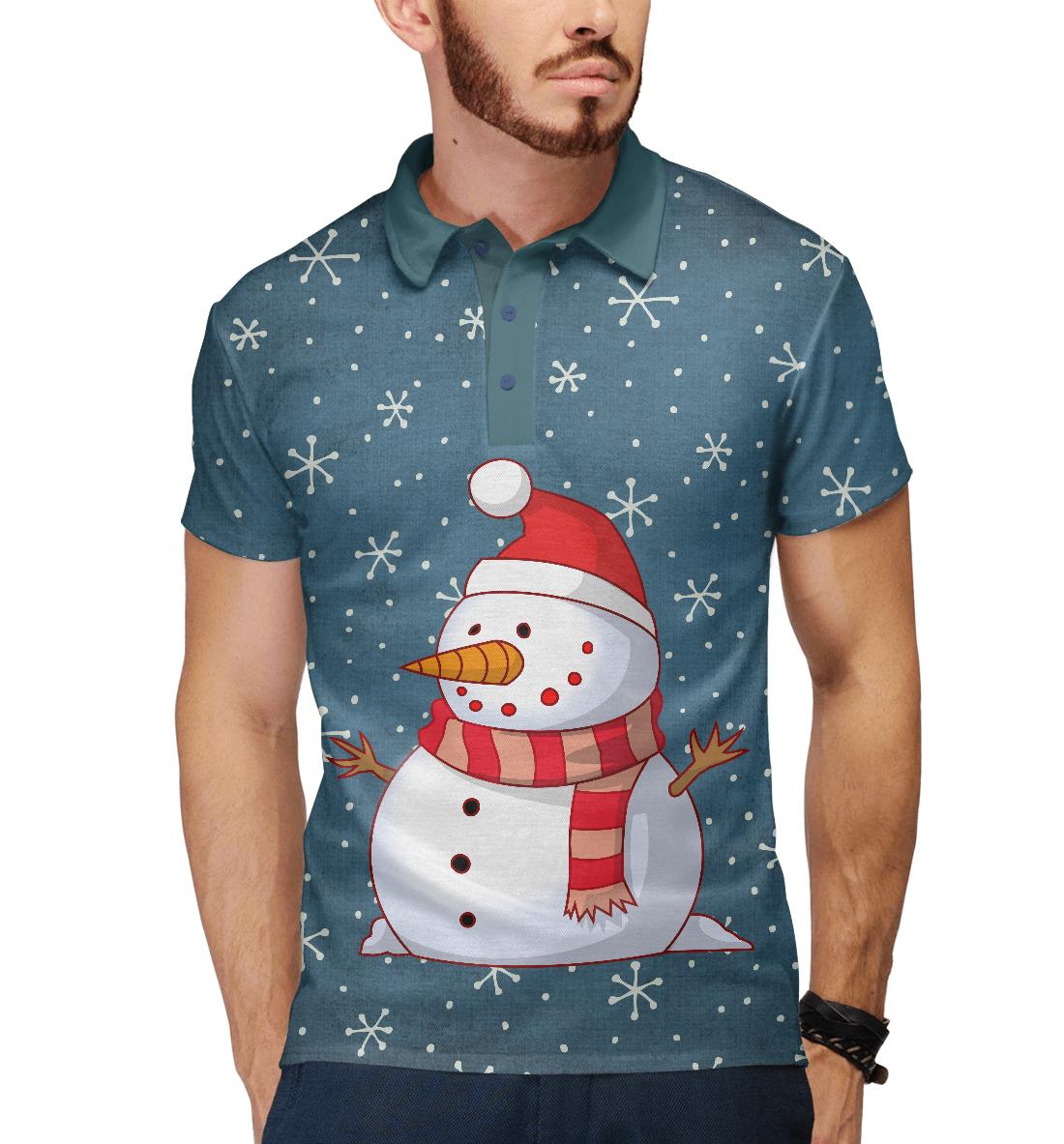 Купить Снеговик, Printbar, Поло, NOV-800703-pol-2