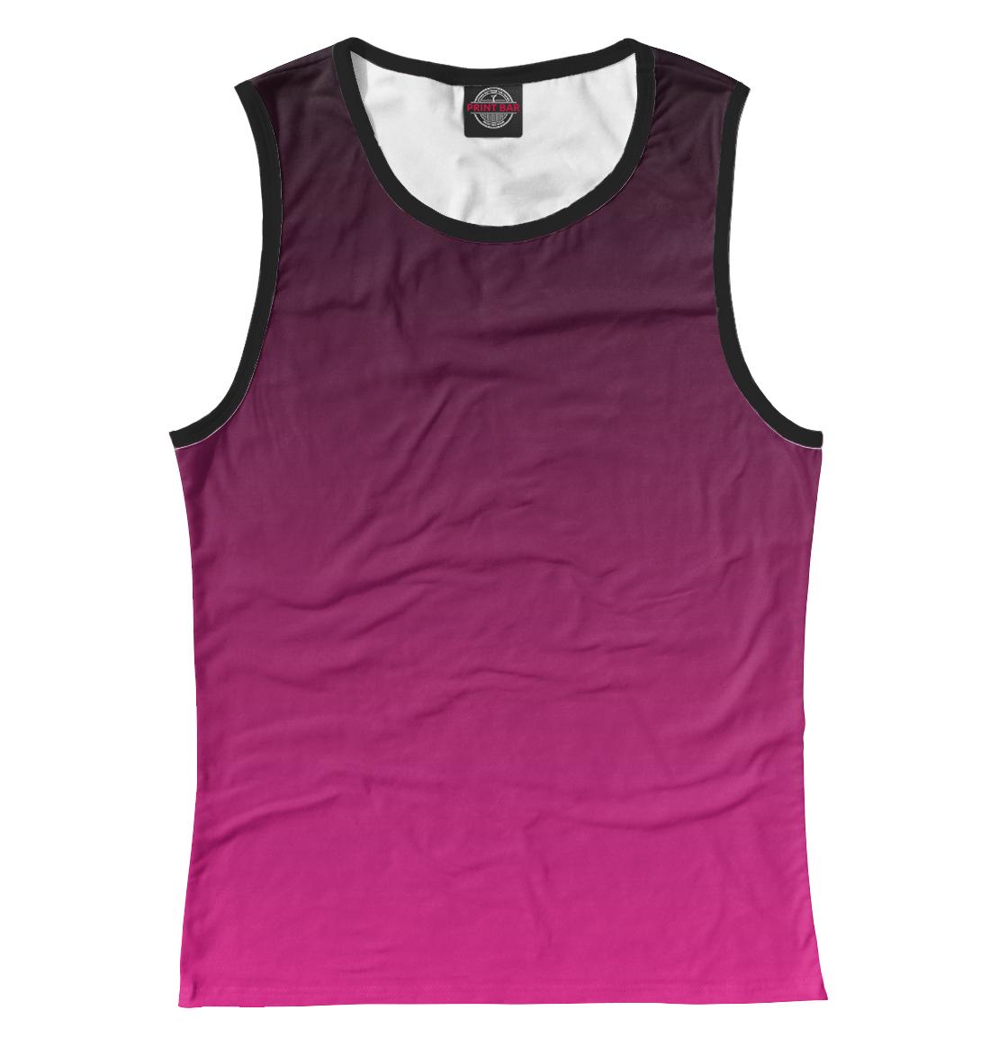Градиент Розовый в Черный, Printbar, Майки, CLR-560218-may-1  - купить со скидкой